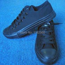 All size35-45 Classic  original Men Women shoes full black canvas shoes men / lady fashion Star canvas shoes chuck shoes(China (Mainland))