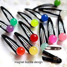 Buy New Fashion Korean AZ Style Hairpins Candy Colors Ball Magnet Buckle Design Hair Clips Women Girls Hair Barrette Accessories for $1.34 in AliExpress store