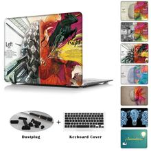 Fashion cool Head Left brain unique printed Case For Apple MacBook Pro 13 15 with Retina Mac Air 11.6 12 13.3 inch cover shell