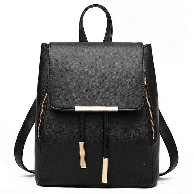 Пакет колледж крышка рюкзак женщины кожаный рюкзак шнурок опрятный школа для подростков ...