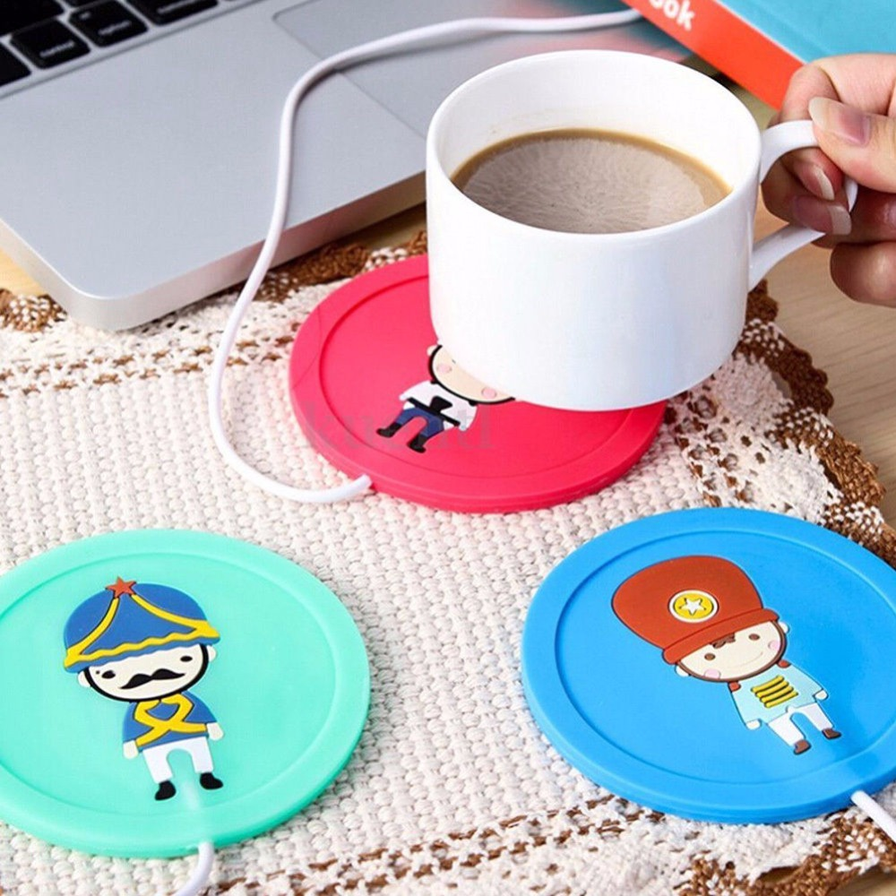 Beautiful Design 5V USB Silicone Heat Warmer Heater Milk Tea Coffee Mug Hot Drinks Beverage Cup 3.75W 9.5x0.6cm 3Color(China (Mainland))