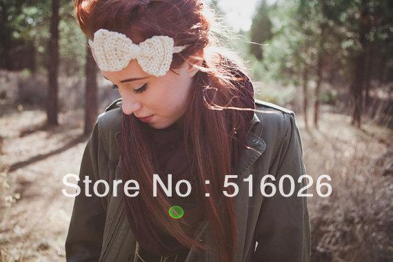 Fashion Crochet Headband,Hair Bows,Girls Hair Band, Head Accessories, fashion hairewear 10pcs/lot