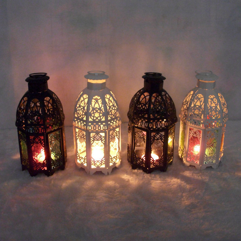 Morocco European Mediterranean style wedding gifts Castle lantern iron candle candle lamp ornaments(China (Mainland))