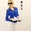 2016 New Fashion Chiffon Casual Blouse Shirts vetement femme Tops Clothing Women Lady Beauty Sleeve High