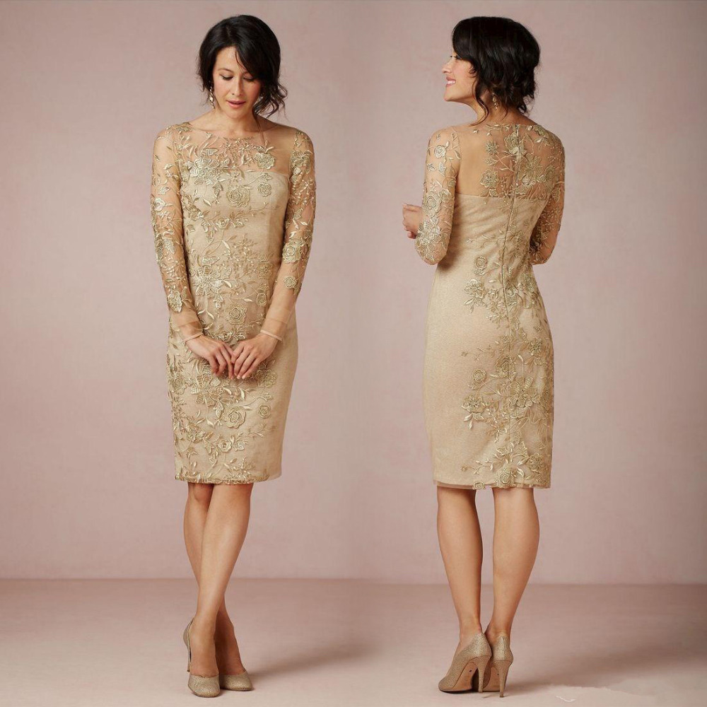 Online Get Cheap Short Gold Mother of The Bride Dresses ...