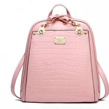 Women Designer Backpacksl Crocodile Leather Large Chains School Bags For Teenagers Travel Kanken Backpack Mochilas Infantil(China (Mainland))