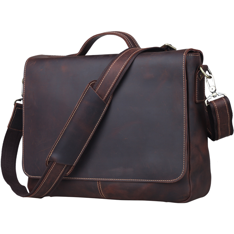 TIDING FASHION VINTAGE STYLE MEN REAL LEATHER SHOULDER BAG LAPTOP TIDING 1062(China (Mainland))