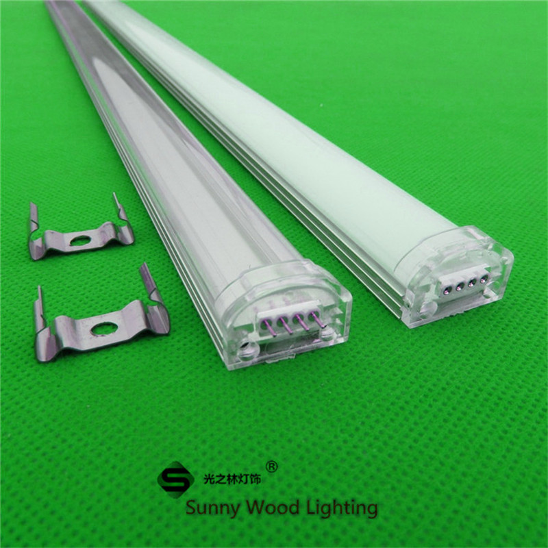 10pcs/lot 40inch 1m led strip channel , seamless led aluminium profile matte clear cover for 3528,5050,5630 strip(China (Mainland))