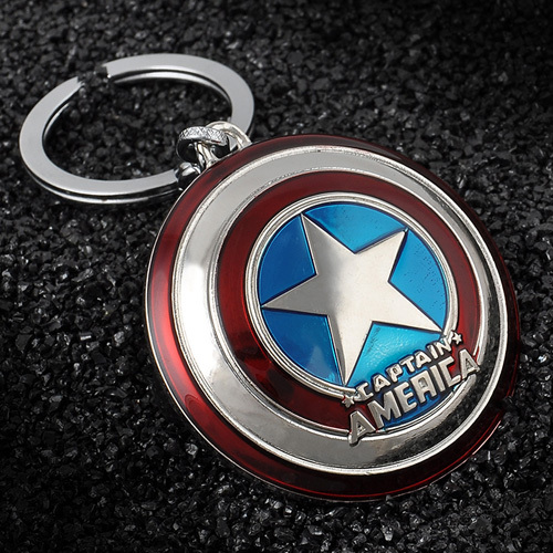 Гаджет  Hot Moives The Avengers Super Hero Captain America Shield Key Chain Marvel The HULK Thor Ironman Metal Pendant Keychain Keyring  None Ювелирные изделия и часы