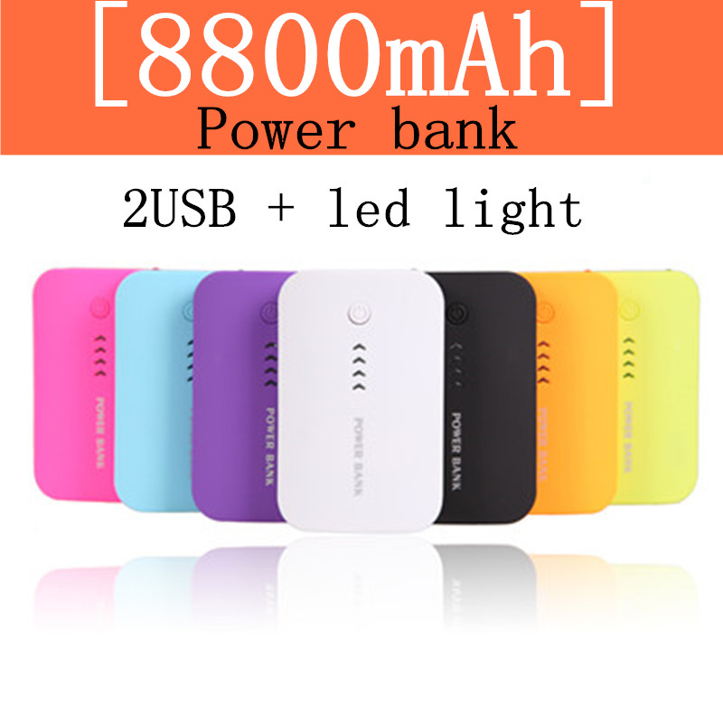2016 Hot Double USB 8800mAh Power Bank External Mobile Backup Battery Powerbank Portable Charger For Mainstream Smartphone(China (Mainland))