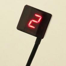 Red LED Universal Digital Gear Indicator Motorcycle Display Shift Lever Sensor  Motor Bike Instruments