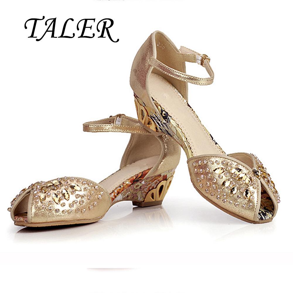 Silver Peep Toe Low Heel Shoe