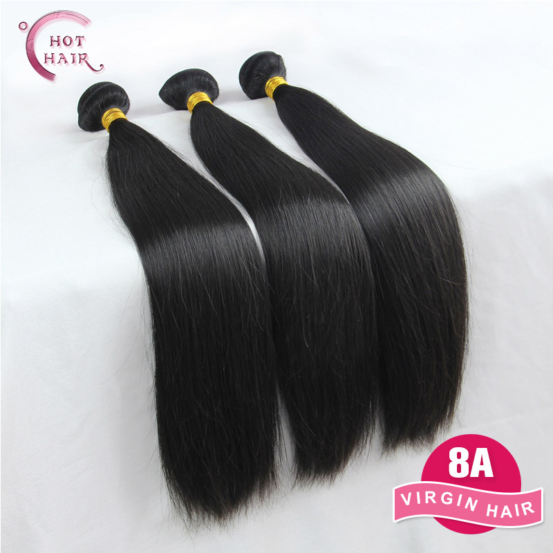 Peruvian Virgin Hair Straight 3Pcs Lot 8A Unprocessed Virgin Hair Weave Peruvian Straight Virgin Hair Pervian Virgin Hair(China (Mainland))