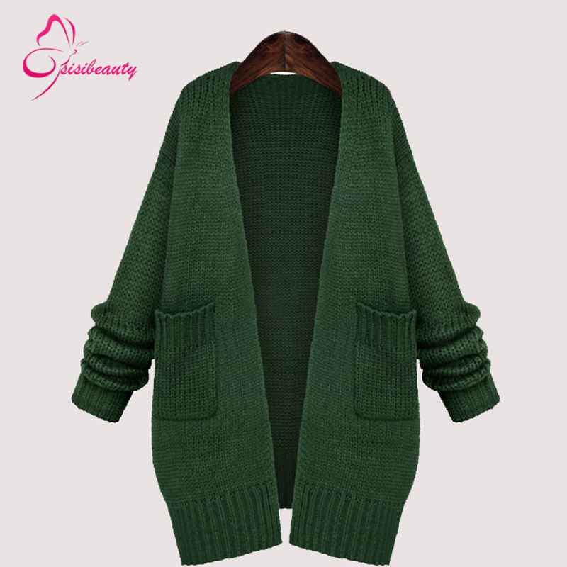 Sisibeauty 2015 Spring/Autumn New Style Fashion Women Cardigan Loose Large Free Size Knitted Sweater 3(China (Mainland))