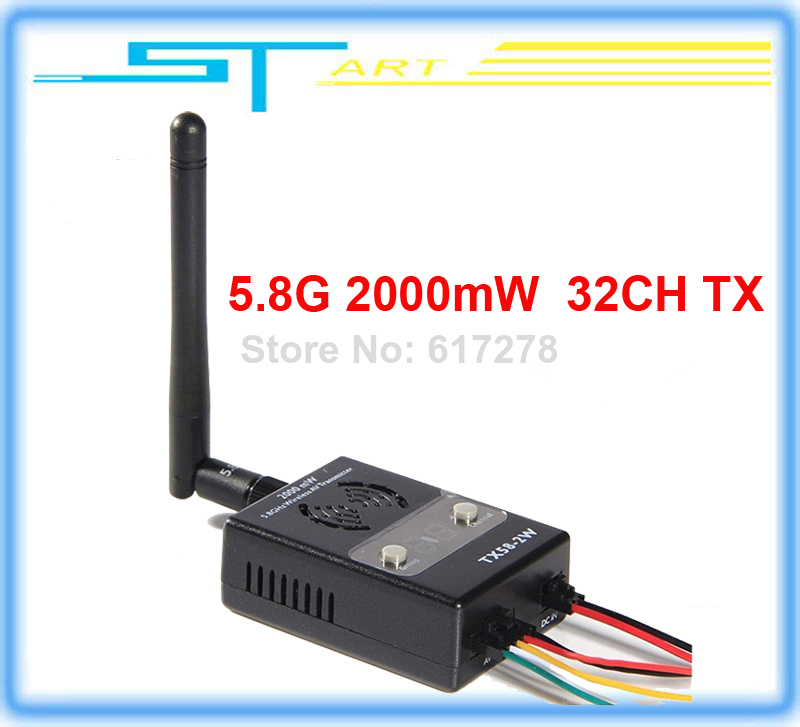 Фотография 2014 new version Boscam FPV 5.8GHz 32CH 2000mW Wireless Audio Vedio AV Transmitter TX TX58-2W rx for RC helicopter Drop Toy kids