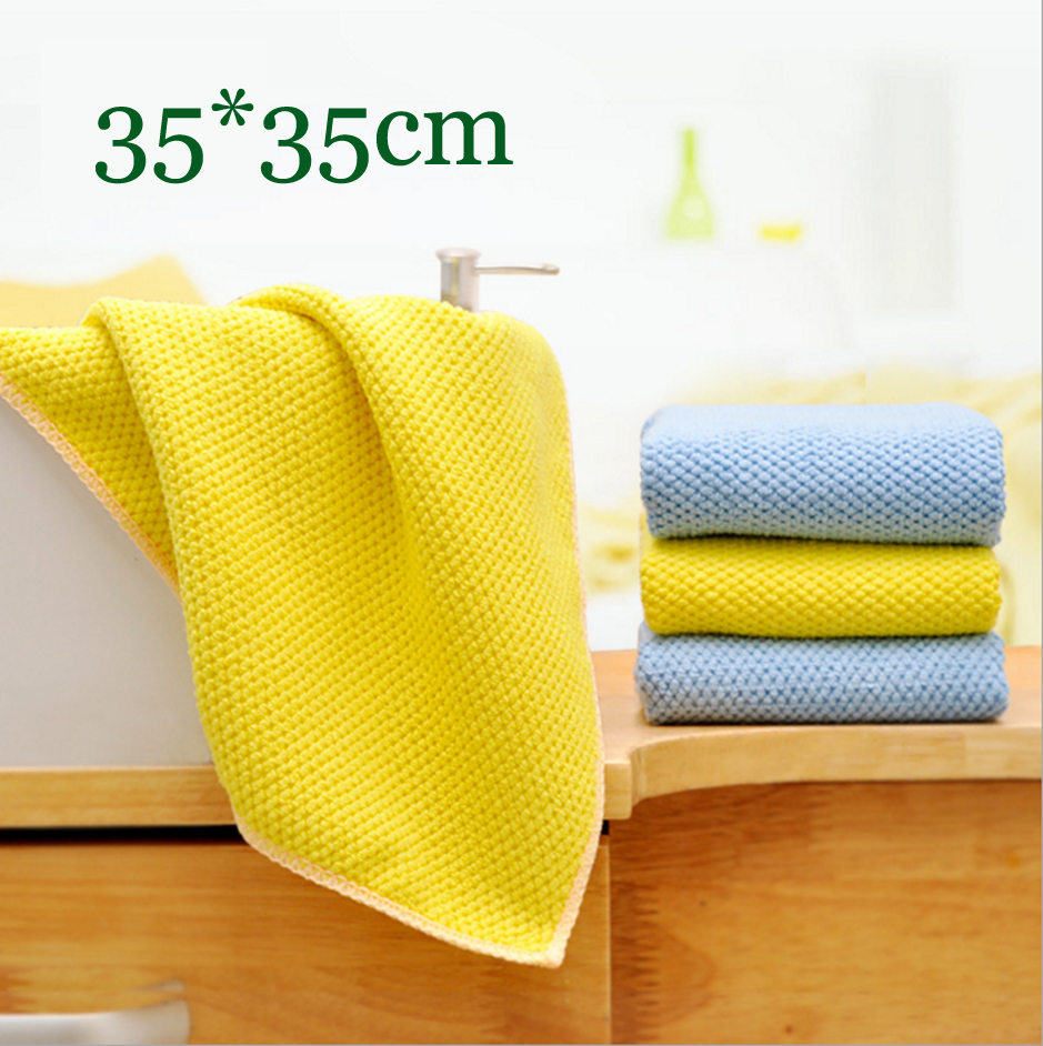 3pcs pack Microfiber Scouring Pad Strong absorbing wash cloth absorbent towel(China (Mainland))