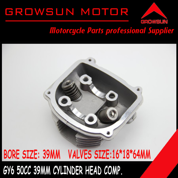 50cc 39mm GY6 Moped Scooter moped ATV Quad engine Cylinder Head comp with 16 18 64mm