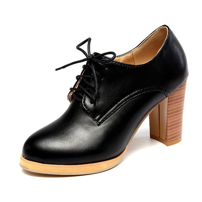 Здесь можно купить  New 2016 Big Size 33-43 Women Fashion Lace-UP Platform Oxford Style Pumps Office Lady Daily Brief High Heel Pumps A12  Обувь