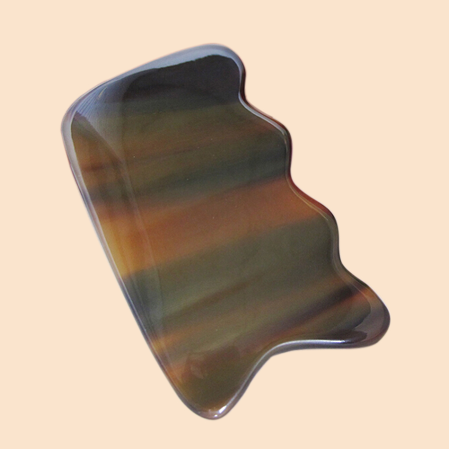 New Chinese Traditional Body Massage Board Handmade Natural Pocket Yok Horn Gua Sha Scripping Plate(China (Mainland))