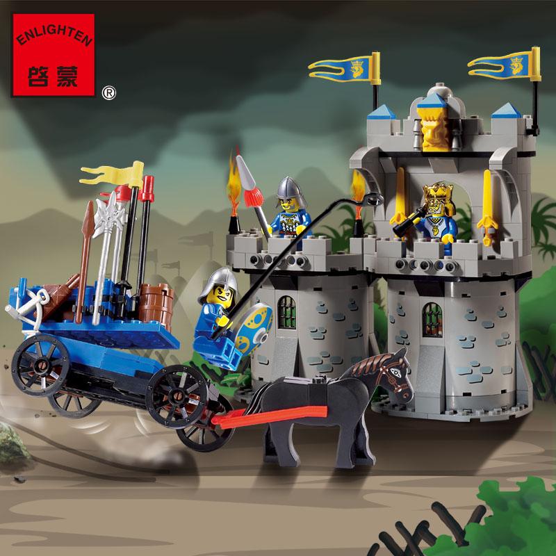 267pcs Hot Sale Castle Fortress Bunker Building Block Minifigures Kid Toy Gift Compatible Legoelied Lbk qm