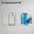 White Full Housing For Samsung Galaxy Note 2 N7100 Front Frame Middle Frame Battery Cover front