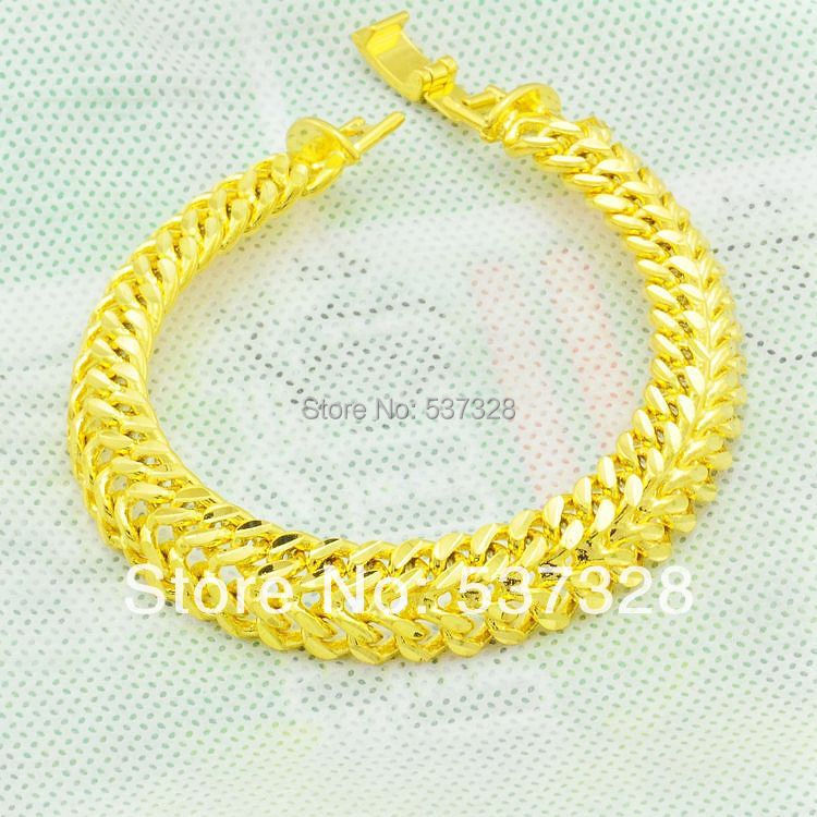 Noble Elegant Women's 24K Yellow Gold Filled Bracelet Chain Married Royal Girls Jewelry(China (Mainland))