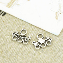Free shipping Breasted Beaded Buckle Ot Retro Tibetan Silver Alloy Spacer Loose Jewelry Accessories 14X11mm 20Pcs