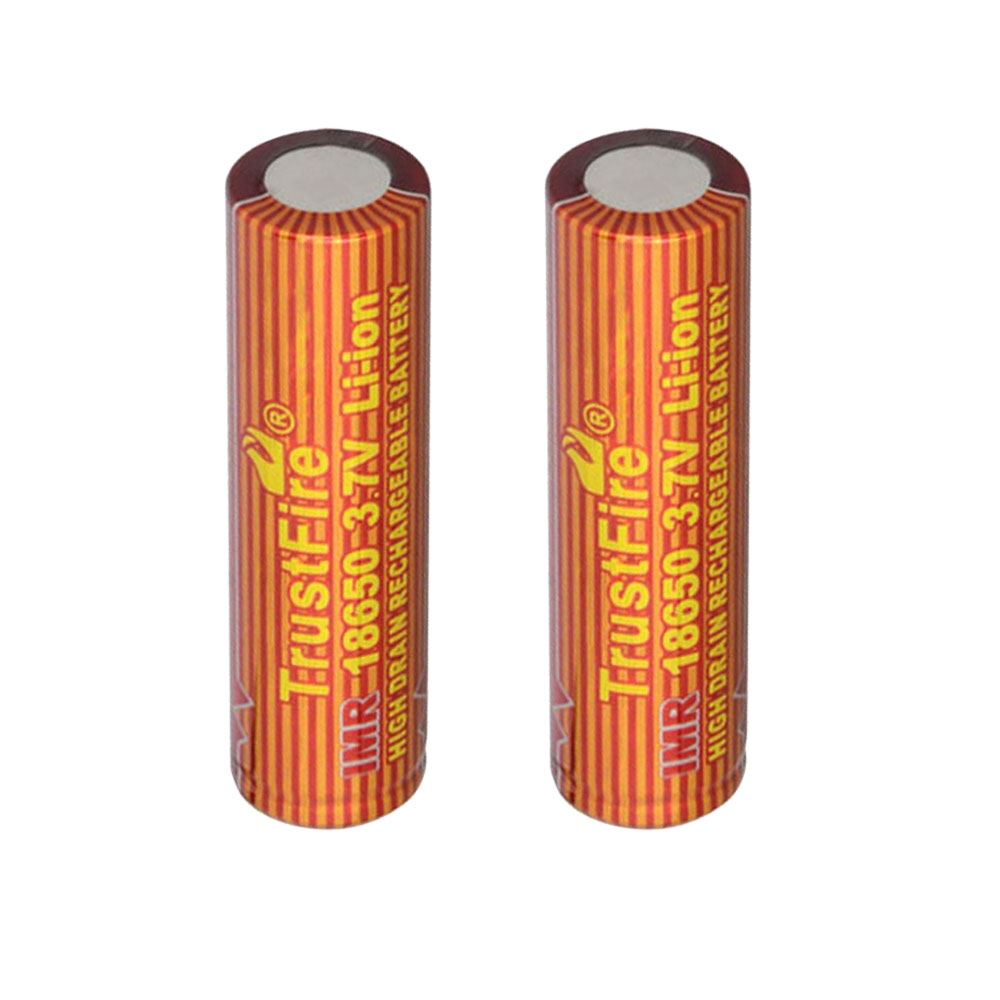 TrustFire 2PCS 18650 1500mAh 3.7V IMR Rechargeable High Drain Battery for Electronic Smoke Flashlight Power Source(China (Mainland))