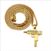 Buy Golden Plated Pistol Gun SUPREME Necklace Star Jewelry Men Hip Hop Dance Charm Franco Chain Hiphop Necklace Choker A0011 for $3.14 in AliExpress store