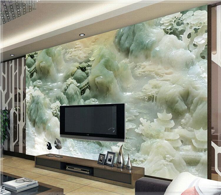 Cheap sale super 3d sense relief murals wallpaper new for Home 3d wallpaper wallcovering