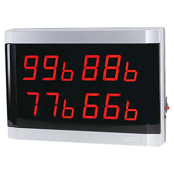 99 channel wall wireless calling receiver (4 areas) ,wireless waiter calling ,wireless calling LED display,4 number display(China (Mainland))