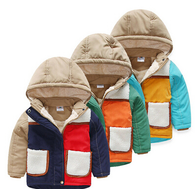 2015 New baby boys winter jacket soft warm cotton winter jacket for boys children winter clothing boys letter coat