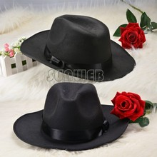 Hot Selling 2014 New Authentic Wool Fedoras jazz hat fashion hat dance advertising cap male women's wide brim hat 38(China (Mainland))