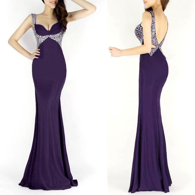 Грейс карин русалка длинные вечерние платья черный синий красный фиолетовый свадьба ...