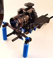DSLR Rig 5D3 6D D600 Camera Mount Head Handheld Video Shoulder Support System 15mm Rod Clamp