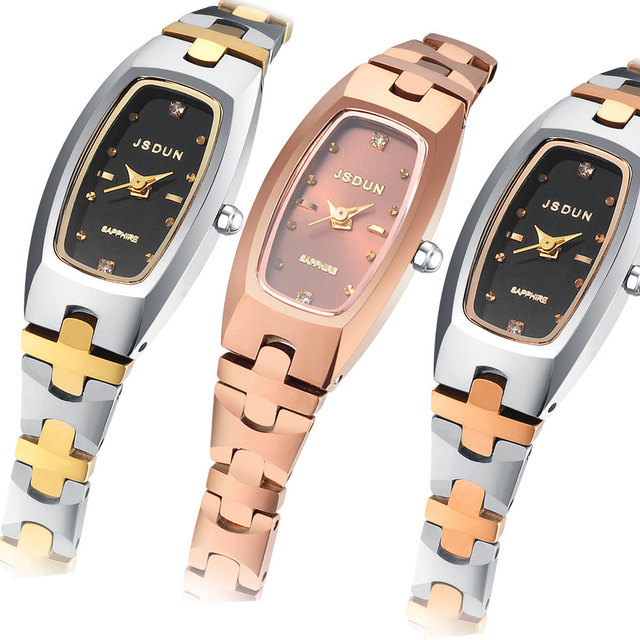 Watch tungsten steel quartz watch waterproof women's watch fashion rhinestone sheet women fashion watch