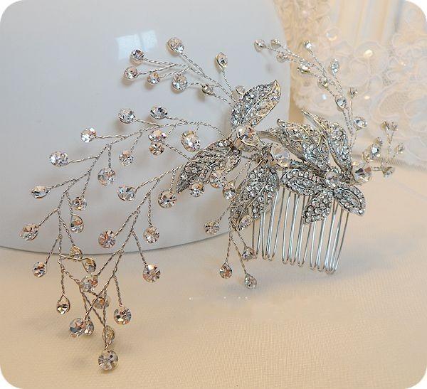 Блестящие кристалл свадебные волос вайн гребень горный хрусталь свадебные аксессуары ручной работы головной убор