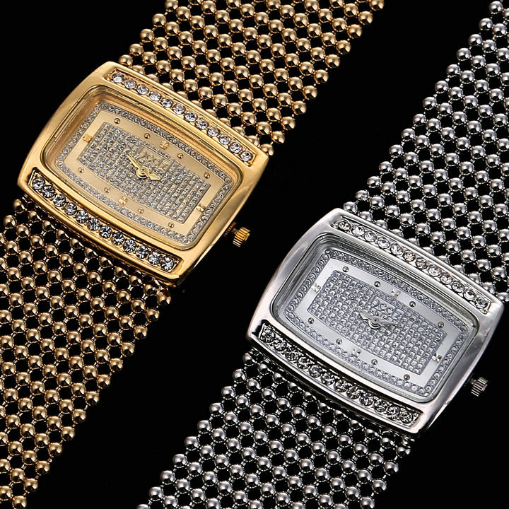 2014new women dress rhinestone watch fashion ladies girl japan MOVT quartz watch wristwatches18k gold plating bracelet watch(China (Mainland))