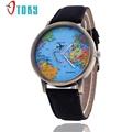 OTOKY World Map Watches Quartz Women Denim Fabric Watch Relojes Mujer Relogio Feminino 30 Gift 1pc