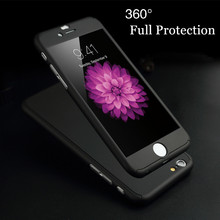 "luxury 360 Degree Full Coverage Protection Case for Apple iPhone 5 5S SE / 6 6S 4.7""/ Plus Shockproof Phone Cover +Tempered Film(China (Mainland))"