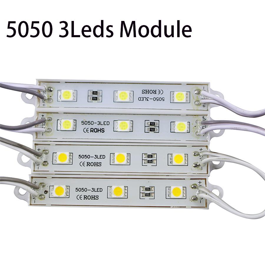 20pcs/Lot 5050 3Led Modules Waterproof IP65 DC12V RGB Led Modules Use For Backlighting Advertising Board Display Window(China (Mainland))