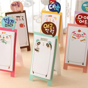 NEW Korea stationery Pretty kawaii cartoon Sticker Post It Bookmarker memo pad flags sticky note Sly-68(China (Mainland))