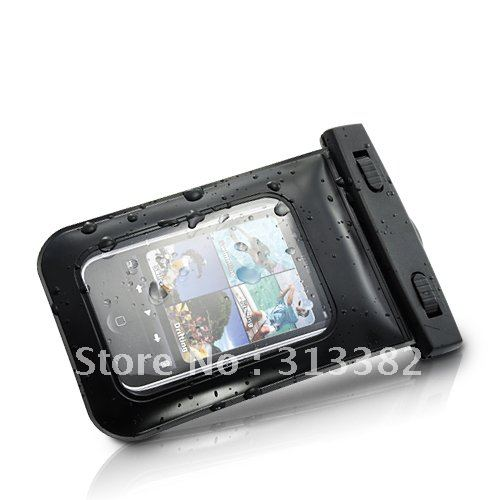 Fashion Waterproof Cover Bag With Neck Straps for Phone5 With High Quality Free shipping(China (Mainland))