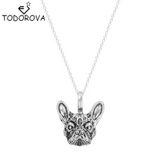 Buy Todorova New Handmade French Bulldog Head Chain Necklace Animal Dog Face Pendant Womens Clothing Accessories Wholesale China for $1.01 in AliExpress store