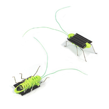 Solar Power Save Energy mini cute Grasshopper Style Cricket gift Toy Free Shipping(China (Mainland))