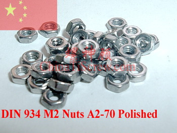 Купить Аппаратные средства  Stainless steel Nuts M2 DIN 934 SUS 304 A2-70 Polished None