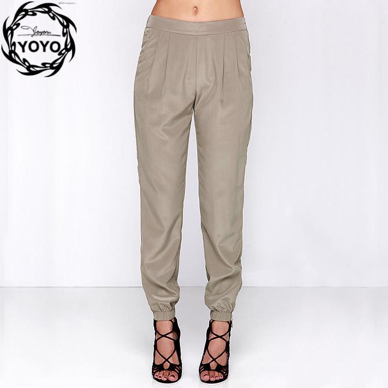 Amazing 2015 Summer Plus Size Womens Pants Ladies Loose Casual Linen Pants