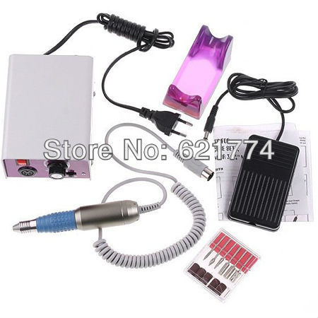 Electric Nail Tools Nail Manicure Polishing Machine Drill File Machine with Foot Pedal EU Plug Gift