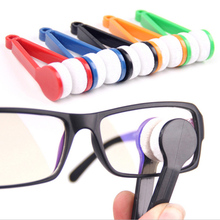Delicate 2014 New 10Pcs Mini Portable Sun Glasses Eyeglass Microfiber Cleaning Brush Cleaner