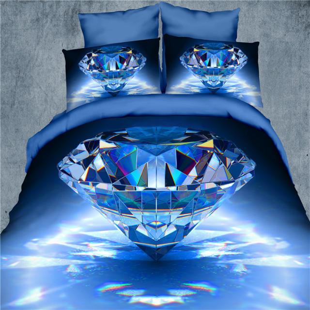 3d Diamant Drap De Lit Linge De Lit Colchas De Cama Reine
